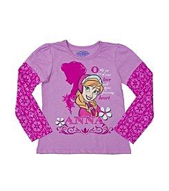 Nannette® Girls' 2T-6X Frozen Anna Love Tee *