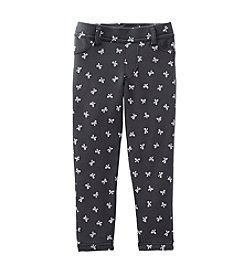 Carter's® Girls' 2T-6X Bow Print French Terry Jeggings