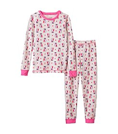 Cuddl Duds® Girls' 2T-6X Owl Print Thermal Set