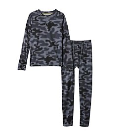 Climatesmart® Boys' 4-20 Camouflage Polyester Thermal Set
