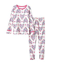 Cuddl Duds® Girls' 2T-4T Owl Print Polyester Thermal Set
