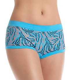 B intimates Blue Swirl Seamless Cheeky Boyshorts