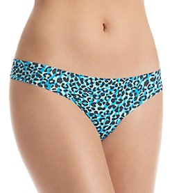 B intimates Blue Animal No Show Thong