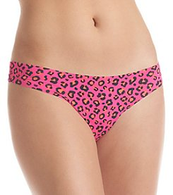 B intimates Pink Animal No Show Thong