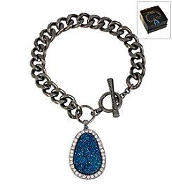 Kenneth Cole® Boxed Blue Druzy Charm Toggle Bracelet