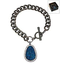Kenneth Cole® Boxed Blue Druzy Charm Toggle Bracelet