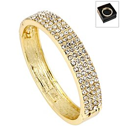Kenneth Cole® Boxed Goldtone Pave Hinged Bangle Bracelet
