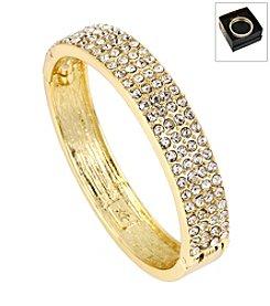 Kenneth Cole® Boxed Goldtone Pave Hinged Bangle Bracelet