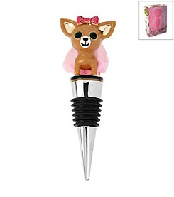 Betsey Johnson® Boxed Brown Chihuahua Bottle Stopper