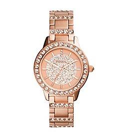 Fossil® Women's Jesse Rose Goldtone Bracelet Watch with Tonal Layered Stone Dial