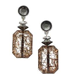 Ruby Rd.® Black Multi Post Top Beaded Drop Earrings