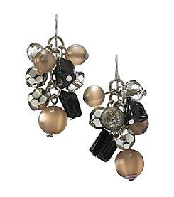 Ruby Rd.® Black Multi Beaded Cluster Hook Earrings