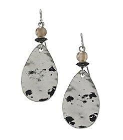Ruby Rd.® Black Multi Teardrop Hook Earrings