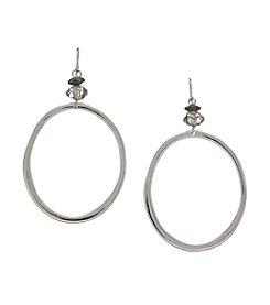 Ruby Rd.® Black Large Metal Hoop Earrings