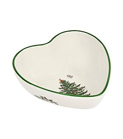 Spode® Christmas Tree Heart Shaped Dip Bowl
