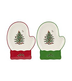 Spode® Christmas Tree Set Of Two Mitten Dishes