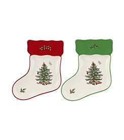 Spode® Christmas Tree Set Of Two Stocking Dishes
