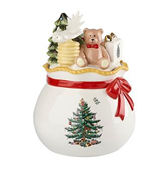 Spode® Christmas Tree Figural Santa's Toy Bag Candy Box