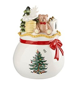 Spode® Christmas Tree Figural Santa's Toy Bag Candy Box