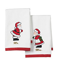 Lenox® Mr. & Mrs. Claus 2-Pk. Fingertip Towels