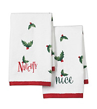 Lenox® Naughty & Nice 2-Pk. Fingertip Towels