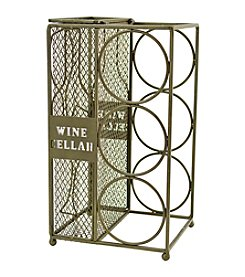 Boston Warehouse Wine Bottle Caddy And Cork Cage