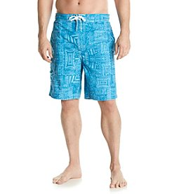 Paradise Collection® Men's Geo Patchwork Swim Shorts
