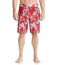 Paradise Collection® Men's Hibiscus Print Swim Shorts