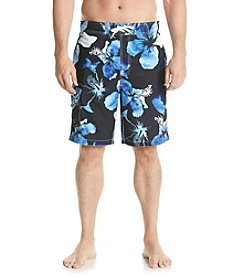 Paradise Collection® Men's Ombre Hibiscus Swim Shorts