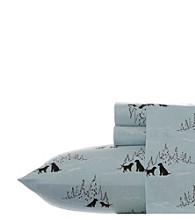 Eddie Bauer® Dog Friends Flannel Sheet Set