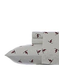 Eddie Bauer® Red Skiers Flannel Sheet Set