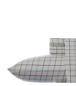 Eddie Bauer® Windowpane Flannel Sheet Set