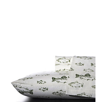 Eddie Bauer® School of Fish Flannel Sheet Set