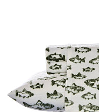 Eddie Bauer® School of Fish Fleece Sheet Set