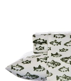 Eddie Bauer® School of Fish Fleece Sheet Set