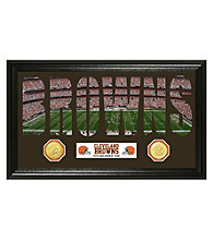 "Cleveland Browns ""Word Art"" Bronze Coin Panoramic Photo Mint by Highland Mint"