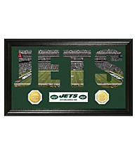 "New York Jets ""Word Art"" Bronze Coin Panoramic Photo Mint by Highland Mint"