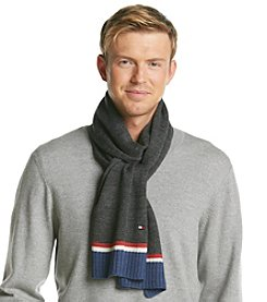 Tommy Hilfiger® Men's Horizontal Stripe Border Scarf