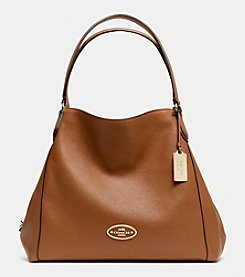 COACH EDIE SHOULDER BAG IN LEATHER