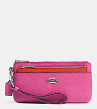 COACH ZIPPY WALLET WITH POP-UP POUCH IN EMBOSSED TEXTURED LEATHER