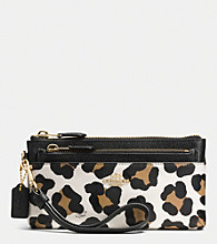 COACH ZIPPY WALLET WITH POP-UP POUCH IN OCELOT PRINT LEATHER