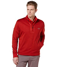 Callaway® Men's Quarter Zip Heathered Fleece Pullover