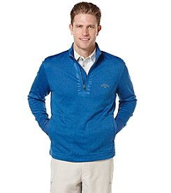 Callaway® Men's Big & Tall Quarter Zip Heathered Fleece Jacket