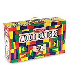 Melissa & Doug® 200 Wood Blocks Set