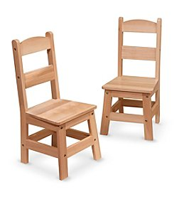 Melissa & Doug® Wooden Chair Pair