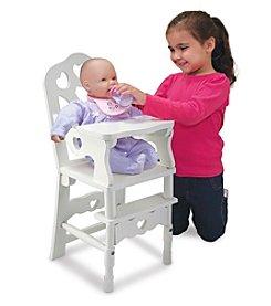 Melissa & Doug® Wooden Doll High Chair