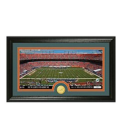 """Miami Dolphins """"Stadium"""" Bronze Coin Panoramic Photo Mint by Highland Mint"""