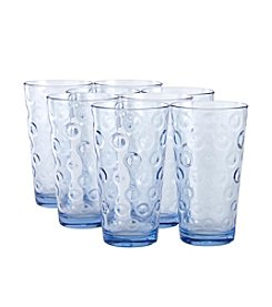 LivingQuarters Blue Circle Cooler Set Of 8 Drinkware Set