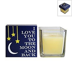 New View 2-pc. To The Moon and Back Candle and Box Sign Set