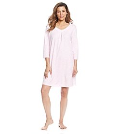 KN Karen Neuburger Sleep Shirt - Pink Lace